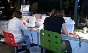 Cours de couture collectif pour adultes, création d'une robe dos nu