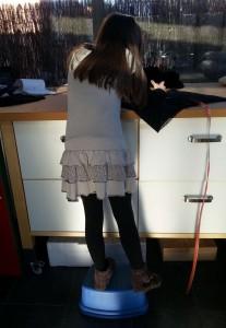 Préparation des ourlets pour Anna